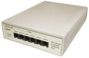 USB адаптер для записи телефонных разговоров c 6 линий