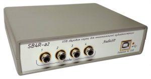 USB плата аудиоввода с 4 аудиовходами.