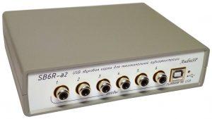 SB6R -внешняя USB звуковая карта на 6 каналов оцифровки.